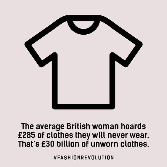 ropa sin usar y consumo de moda
